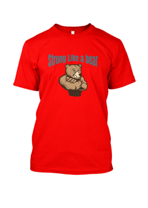 strong like a bear – Famfabrix_design red