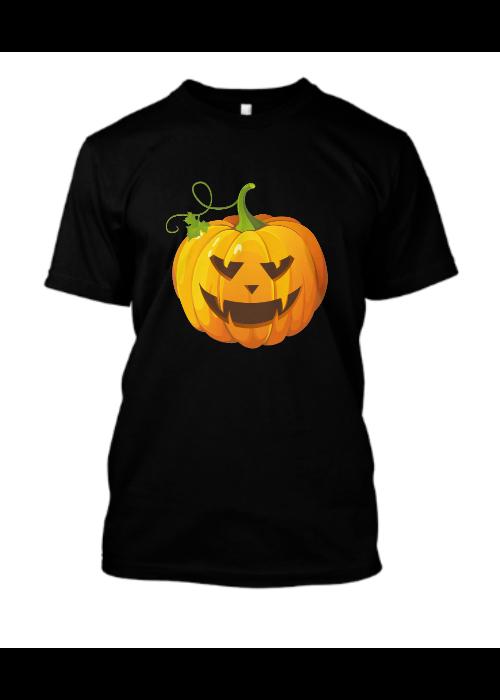 Halloween pumpkin black T-shirt 2019