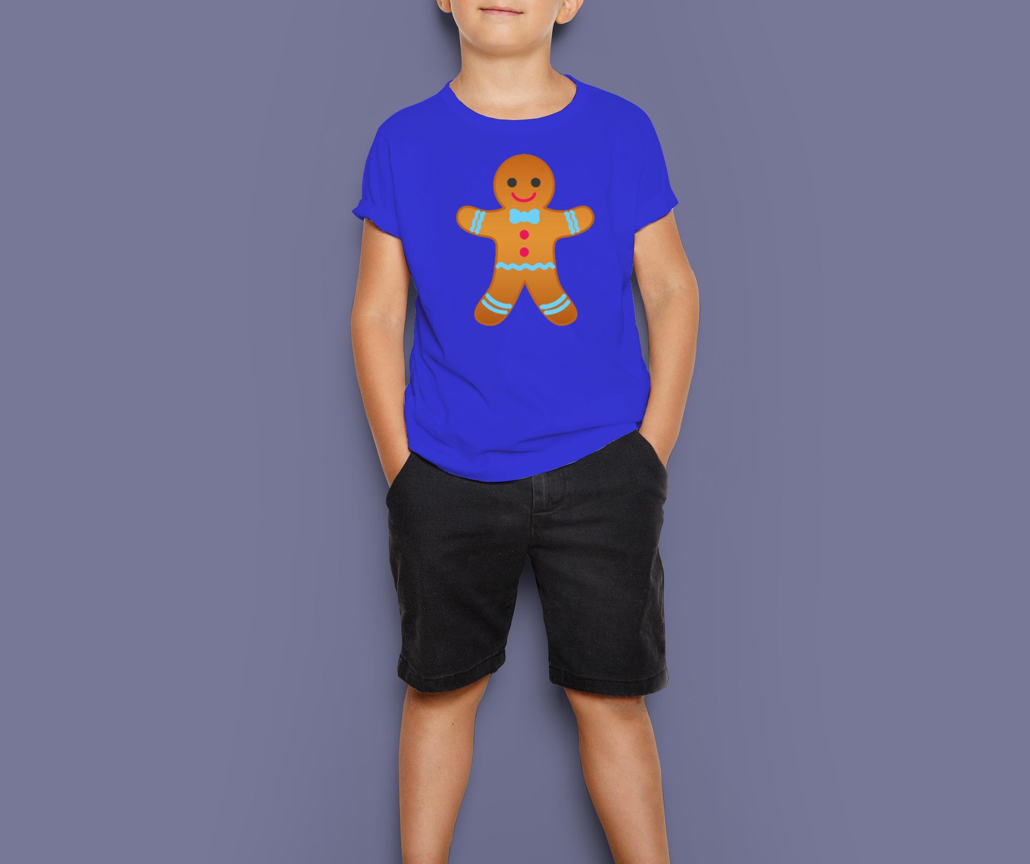 gingerbread boy model BLUE Tee
