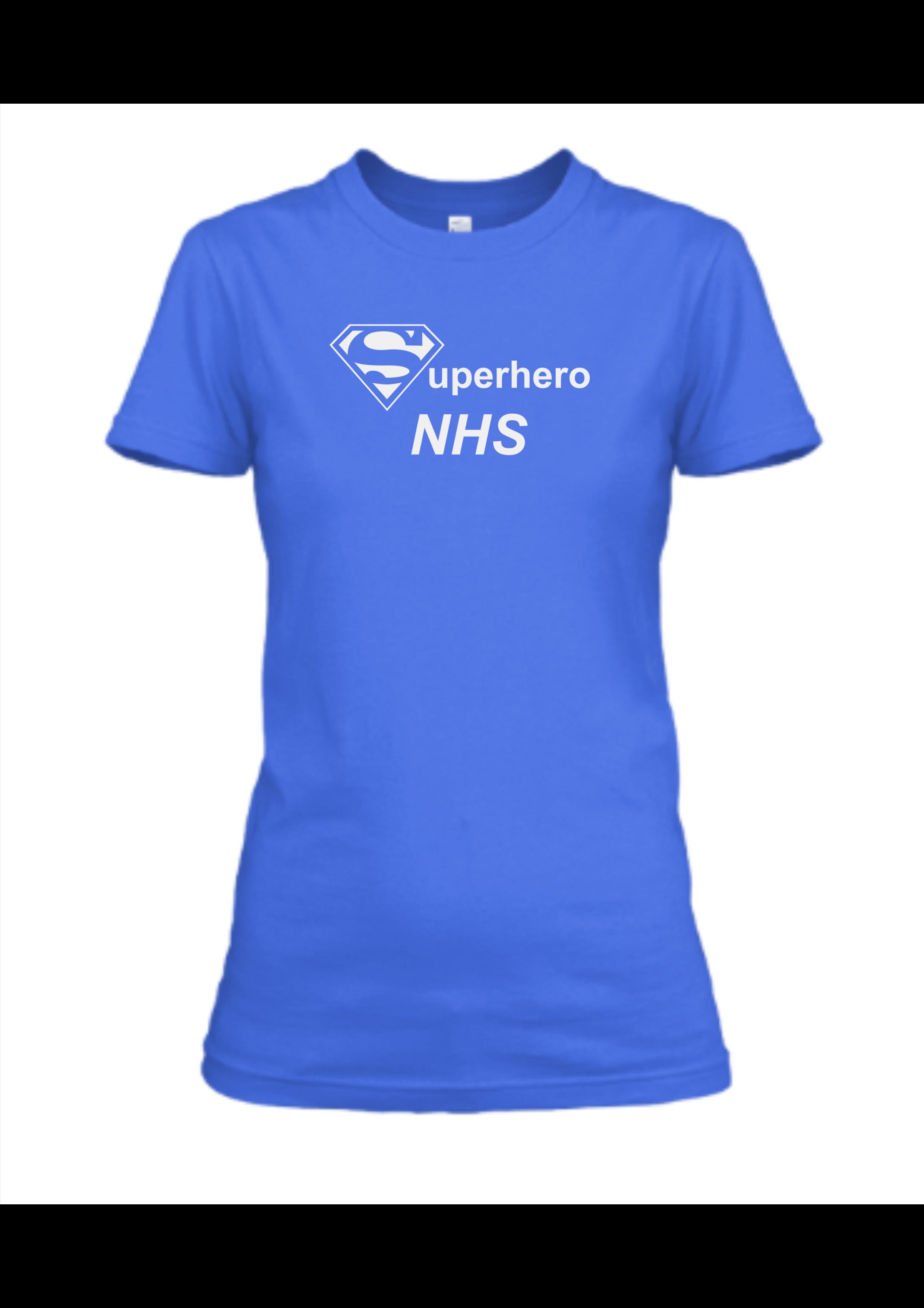 blue T-shirt NHS superhero women
